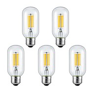 KWB 5Pcs 6W E26/E27 LED Filament Bulbs 6 COB 560 lm Warm White / Cool White(110-130V)/(220V-240V)