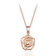 Damskie Naszyjniki z wisiorkami Kryształ Flower Shape Rose Kryształ Stop Bohemia Style Styl Punk Inspirujący Osobiste Terapia magnetyczna