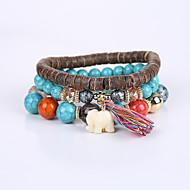 Heren Dames Voor Stel Strand Armbanden Armband Modieus leuke Style Acryl Hars Turkoois Dierenvorm Olifant Wit Grijs Blauw Sieraden Voor