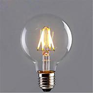4,5 E26/E27 Lampadine LED a incandescenza G80 4 SMD 5730 280 lm Bianco caldo / Giallo Decorativo V 1 pezzo