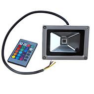 Dc12-24v 10w farverige rgb infrarøde fjernbetjeningslamper rgb landskabslys
