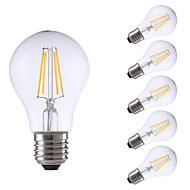 4W E26/E27 LED-glødepærer A60(A19) 4 COB 550/400 lm Varm hvit Kjølig hvit Dimbar AC 220-240 V 6 stk.