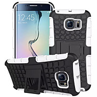 For Samsung Galaxy S7 edge case Tire Hybrid TPU PC Hard Shockproof Kick Stand Cover Galaxy S6 S5 S4 Mini Edge Plus