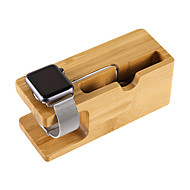 Mini Universal Charging Bracket Holder Fashion Natural wood Socket Real Wood Bamboo Phone Holder