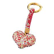 Key Chain Leisure Hobby Key Chain / Diamond / Gleam Heart-Shaped Metal Pink For Boys / For Girls
