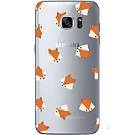 Mert Ultra-vékeny / Átlátszó / Minta Case Hátlap Case Állat Puha TPU mert Samsung S7 edge / S7 / S6 edge plus / S6 edge / S6