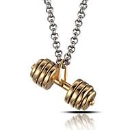 mænds punk stil vedhæng charm halskæde 316L rustfrit stål retro håndvægt form smykker