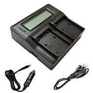 ismartdigi fh fv fp lcd double chargeur avec câble de charge de voiture pour sony fh 50 70 100 fv 50 70 100 120 fp 50 70 90 batterys de