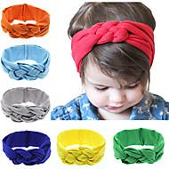 12 farver / sæt fascinator Baby knude pandebånd baby pige headwraps turbaner hårbånd bomuld knyttede pandebånd
