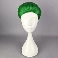 Naisten Synteettiset peruukit Suojuksettomat Lyhyt Suora Vihreä Halloween Peruukki Carnival Peruukki Cosplay-peruukki puku Peruukit