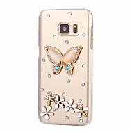 For Samsung Galaxy J7 J5 J3 J2 J1 (2016) Rhinestone Case Back Cover Case Butterfly Hard PC On 7  On 5 C5 C7 J1Mini