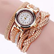 Dames Modieus horloge Armbandhorloge Polshorloge Kwarts imitatie Diamond Punk Kleurrijk PU BandVintage Glitter Eiffeltoren Bohémien