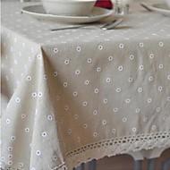 Dikdörtgen Çiçekli Masa Örtüleri , Linen / Pamuk Karışımı Malzeme Ev Dekore Etme Otel Yemek Masası Düğün Ziyafet Yemeği Noel Dekor Favor
