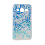 Til Samsung Galaxy J7 J5 Taske Cover blå og hvid malet mønster tpu materiale telefon taske