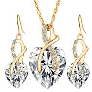 Κοσμήματα 1 Κολιέ / 1 Ζευγάρι σκουλαρίκια Κρυστάλλινο / απομίμηση διαμαντιών Πάρτι / Καθημερινά / Causal 1set ΓυναικείαΛευκό / Κόκκινο /