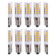 10 PCS E14 51 Smd2835 Led 5 w 850 lm AC220 Warm White Neutral White Small Ceramic Corn Lamp