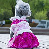 Hunde Kleider Hundekleidung Hochzeit Modisch Blume Grün Rosa