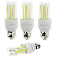 YouOKLight 4PCS E27 7W 600lm 6000K 6-COB LED White Light Corn Lamp(AC85-265V)