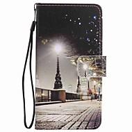 Voor lg k10 k7 case cover city scenery geverfd lanyard pu telefoon hoesje voor Nexus 5x lss775 xpower