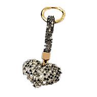 Key Chain Leisure Hobby Key Chain / Diamond / Gleam Rabbit / Heart-Shaped Metal Black For Boys / For Girls