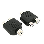 3.5mm Stereo Audio Adapter Female to Dual RCA Female for PS3 Xbox 360 DVD etc