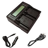 ismartdigi EL9 lcd double chargeur avec câble de charge de voiture pour nikon d60 d40 d40x d500 ENEL9 une caméra batterys