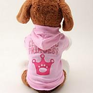 猫用品 / 犬用品 パーカー ピンク 犬用ウェア 春/秋 ティアラ、クラウン ファッション