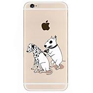 のために パターン ケース バックカバー ケース 犬 ハード アクリル のために Apple iPhone 7プラス / iPhone 7 / iPhone 6s Plus/6 Plus / iPhone 6s/6