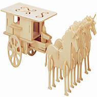 Jigsaw Puzzle Fából készült építőjátékok Építőkockák DIY játékok Hintó / Népszerű épület 1 Fa Kristály Építő játékok