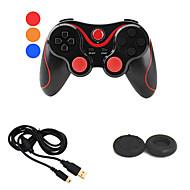 controlador de bluetooth doubleshock juego gamepad inalámbrico + cable usb cargador + protector de botón para ps3