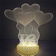 çocuklar için en iyi hediye tasarımı 3d etkisi led gece ışığı seviyorum