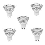 DUXLITE® 5PCS Dimmable GU10 10W(=Halogen 90W) CRI>80 1xCOB 900LM 3000K Warm White LED Spot Bulb (AC 220-240V)