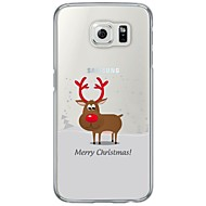 For Samsung Galaxy S7 S7 Edge Cartoon Christmas Pattern Soft Ultra-thin TPU Back Cover S5 S6 S6 Edge
