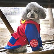 Hunde Mäntel Kapuzenshirts Hundekleidung Niedlich Modisch Lässig/Alltäglich Tier Grau Rot