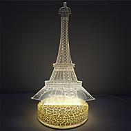 Efekt 3D kształt wieży bazowej plastik nocne lampki led