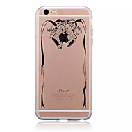 For Pattern Case Back Cover Case Christmas Black Bell Soft TPU for iPhone 7 7 Plus 6s 6 Plus SE 5s 5 4s 4 5C