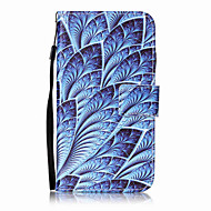 Για lg k10 k8 περίπτωση κάλυψης μπλε λουλούδια μοτίβο ζωγραφική κάρτα stent pu δέρμα για k7 ls770 ls775 v20