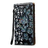 Til Samsung Galaxy Note 5 Note 4 Case Cover 3D Skull Hard PU Læder til Note 3