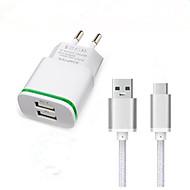 Dual USB eu dugó fali töltő adapter usb 3.1 C típusú töltő kábel Doogee t3 f7 pro utazási töltő típus c töltőkábel