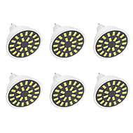 6PCS 5W MR16 Decoration Light  24LED SMD 5733 380LM-400LM Warm White / Cool White AC110 / AC220 V