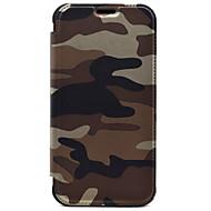 Mert Pénztárca / Kártyatartó Case Teljes védelem Case Álcázás Kemény Műbőr mert Samsung S7 edge / S7
