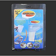 10pcs gripeez αφαιρούμενη εσωτερική εξωτερική διπλής όψης σούπερ τοποθέτηση λαβή μαξιλάρια
