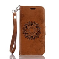 Mandala Embossed PU Leather Wallet for Apple iTouch 5 iTouch 6