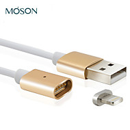 2.4a MFI new metal usb 8pin magnética cobrando cabo do carregador para Apple iPhone 7 6s 6 mais if 5s 5c 5 para ipad ipod touch 5 6