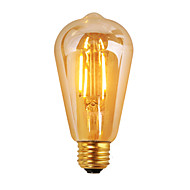 1 pcs GMY E26 3.5W 4 COB ≥300 lm Warm White ST19 edison Vintage LED Filament Bulbs AC120V 2200K