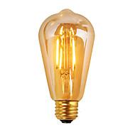 1개 GMY E26 3W 4 COB ≥300 lm 따뜻한 화이트 ST19 edison 빈티지 LED필라멘트 전구 AC 110-130 V