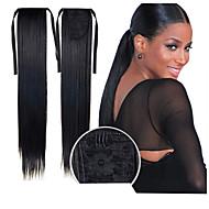 ausgezeichnete Qualität synthetischen 22-Zoll-langen geraden Bandpferdeschwanz Haarteil - 16 Farben verfügbar