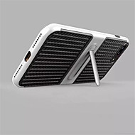 Para con Soporte Funda Cubierta Trasera Funda Un Color Dura Fibra de Carbono para AppleiPhone 7 Plus iPhone 7 iPhone 6s Plus/6 Plus