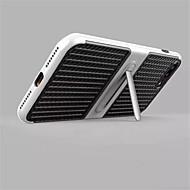 Para Com Suporte Capinha Capa Traseira Capinha Cor Única Rígida Fibra de Carbono para AppleiPhone 7 Plus iPhone 7 iPhone 6s Plus/6 Plus