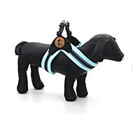犬用品 カラー ハーネス 反射 調整可能/引き込み式 純色 ブルー ブラウン ピンク クロス